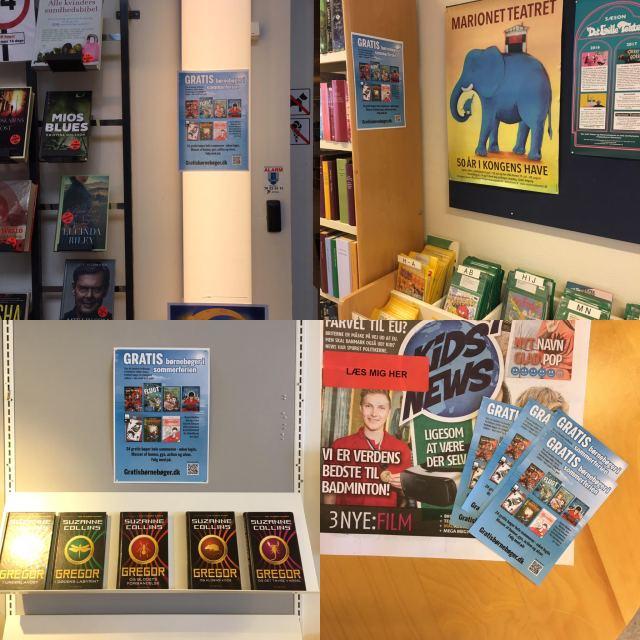 Sommerplakaten på børnebibliotek
